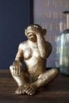 Large See No Evil Gold Monkey Ornament