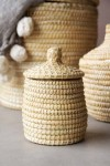 Moroccan Wicker Basket With Lid - Extra Small