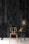 NLXL PHM-35 Burnt Wood Wallpaper By Piet Hein Eek
