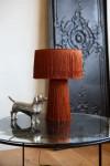 Amber All Over Fringe Table Lamp
