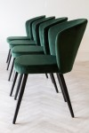 Deco Velvet Dining Chair - Rich Green