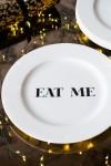 Eat Me Fine China Plate