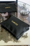 Black Cotton Flawless Pouch Make Up Bag