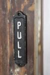 PULL Metal Sign