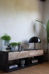 Industrial Style Mango Wood TV Cabinet
