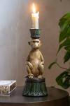Serene Monkey Candle Holder
