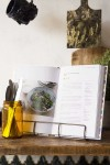 Antique Brass Finish Wire Cookbook Holder