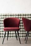 Deco Velvet Dining Chair - Merlot Red