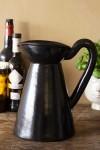 Black Brown Terracotta Jug - Large