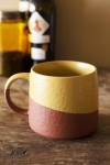 Two-Tone Ochre & Terracotta Mug