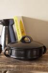 Black Brown Terracotta Casserole Dish - Small