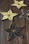 Set Of 4 Star Beaded Coasters