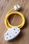 Stylish 2m Extension Cable - Yellow Lead With White Sockets