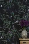Witch & Watchman Folia Wallpaper - Dark
