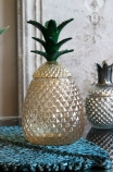 Lifestyle image of the Glass Pineapple Storage Vase With Lid