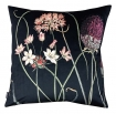 cutout image of Allium Velvet Cushion - Black on white background