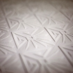 square detail image of Anaglypta Deco Paradiso Wallpaper - White diamond with pattern inside repeated pattern