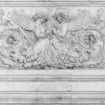 square detail image of lifestyle image of Young & Battaglia Stone Angels Wallpaper - White with white doorway