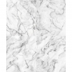 square detail image of Koziel White Grey Marble Wallpaper on white background