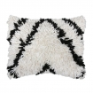 cutout image of Black & White Wool Cushion on white background