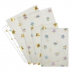 square cutout image of Set Of 24 Foil Stars Treat Bags on white background