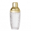 Woven Glass Cocktail Shaker With Gold Lid