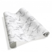 square detail image of roll of Koziel White Grey Marble Wallpaper on white background