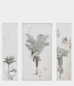 detail image of Elli Popp Baudelaire's Dream Wallpaper large panels with palm tree and butterfly mural repeated pattern