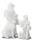 Image of both sizes of the Father Christmas with Reindeer Candle on a white background