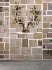lifestyle image of NLXL EKA02 Biblioteca Wallpaper by Ekaterina Panikanova - Mural 2: Antlers with grey flooring