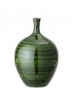 Image of the Glazed Green Bottleneck Vase on a white background