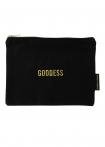 Image of the Black Cotton Goddess Pouch Make Up Bag on a white background