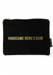 Image of the Black Cotton Handsome Devils Club Pouch Wash Bag on a white background