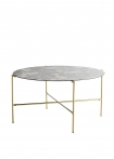 Image of the Round Coffee Table With Bronze Oxidised Mirrored Top on a white background