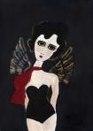 Unframed Angel Art Print By Rebecca Sophie Leigh