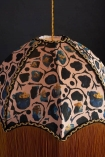 detail image of Anna Hayman Designs DecoFabulous Blush Giraffe Pendant Shade on dark wall background