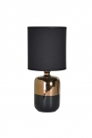 cutout image of Black & Bronze Table Lamp on white background
