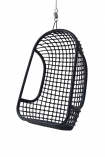 Image of the Black Rattan Hanging Chair on a white background cutout