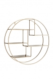 cutout image of Brass Circular Shelf Unit on white background