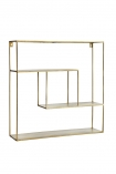 cutout image of Brass Quadratic Shelf Unit on white background