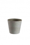 cutout image of Concrete Effect Plant Pot on white background
