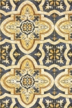 detail image of Mind The Gap Maghreb Tile Wallpaper yellow and grey Moroccan style tile repeated pattern