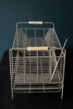 Distressed Wire Dish Rack zoomed in lifestyle image