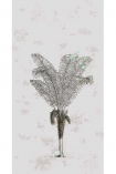 detail image of Elli Popp Desert Grove Wallpaper - Mauve grey outline of palm tree on mauve background repeated pattern