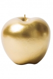 cutout image of Fabulous Gold Apple Candle on white background