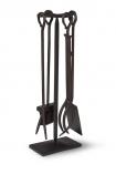 cutout image of Black Fireside Tool Set on white background