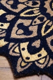Close-up image of the pattern detail on the Mandala Pattern Doormat