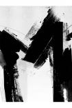 Unframed 60x80 Monochrome Abstract Alphabet A-Z Art Print