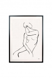 cutout image of Framed Abstract Woman Art Print on white background