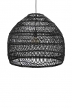 cutout image of Giant Black Wicker Dome Ceiling Light on white background